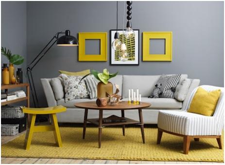 Kombinacije sive boje sa drugim bojama - za suptilan izgled doma