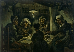 The Potato Eaters by Vincent van Gogh glorifies the ordinary worker and his daily hard work