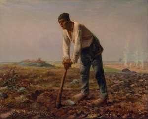 The Man with a Hoe by Jean-François Millet is a symbol of the working class