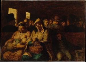 "Honoré Daumier's The Third-Class Carriage show a strange modern human condition - a ""lonely crowd"""