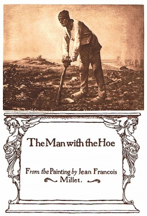 Illustration of a poem The Man with the Hoe