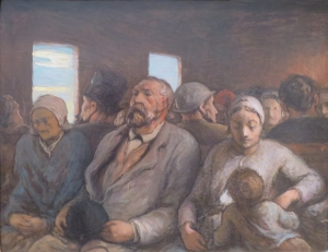The Third-Class Carriage by Honoré Daumier, Fine Arts Museums of San Francisco, San Francisco
